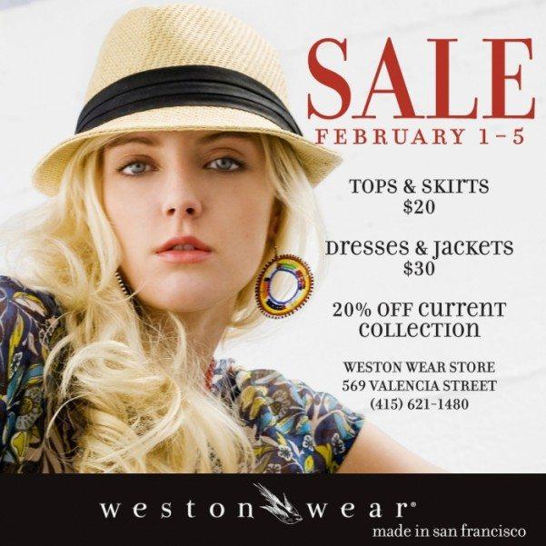weston wear giant sale!