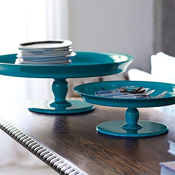 Round Pedestal Trays